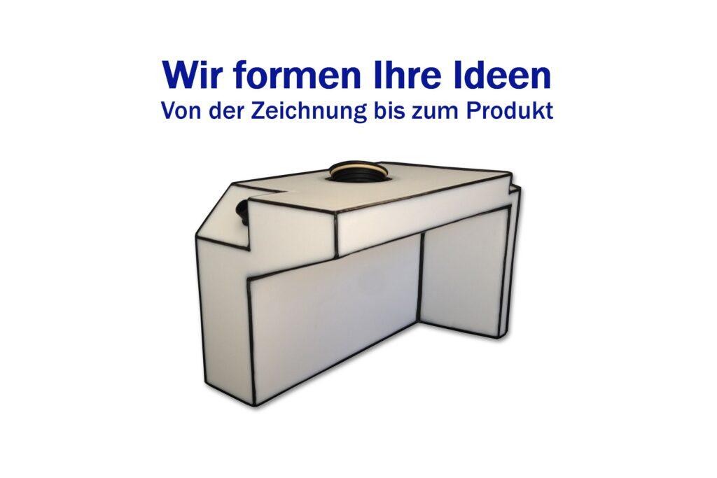 Sonderanfertigung von Frischwasser-, Abwasser-, Fäkalien- und Dieseltanks aus Kunststoff für Ihr Boot oder Wohnmobil.