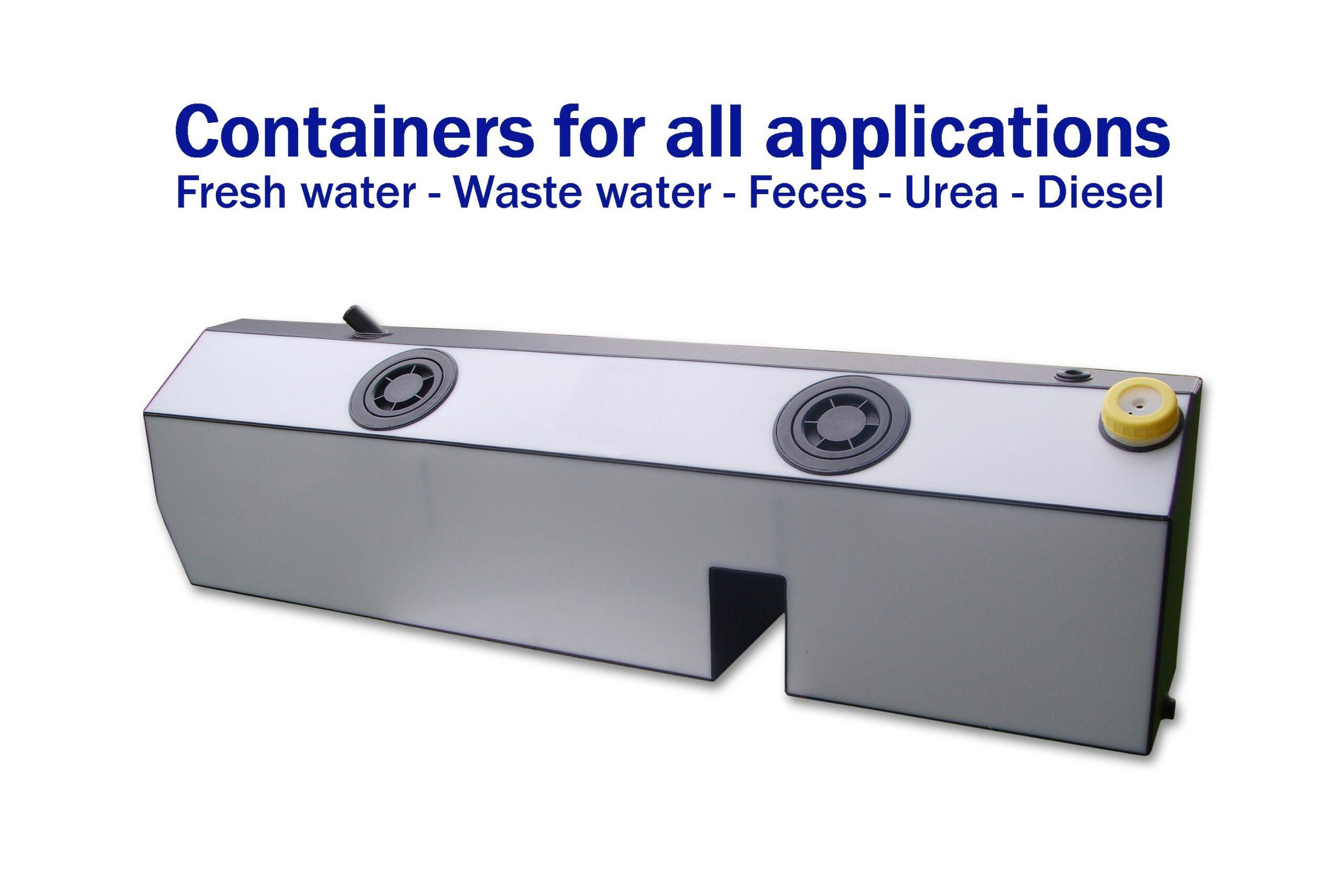 Sonderanfertigung von Frischwasser-, Abwasser-, Fäkalien-, Harnstoff- und Dieseltanks aus Kunststoff für Ihr Boot oder Wohnmobil.